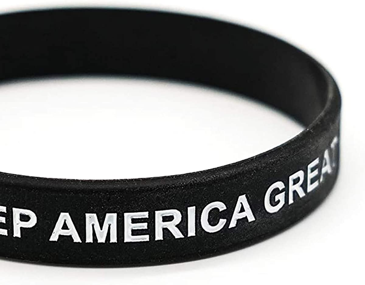 Angels Trump Keep America Great for President 2020 Silicone Bracelets,Inspirational Motivational Wristbands Patriots Gifts for Adults Unisex Teens Men Women Boy Girl