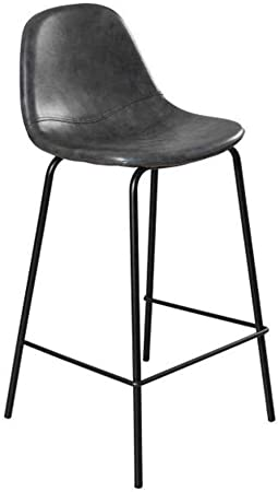 chaise haute bar noire petit dossier