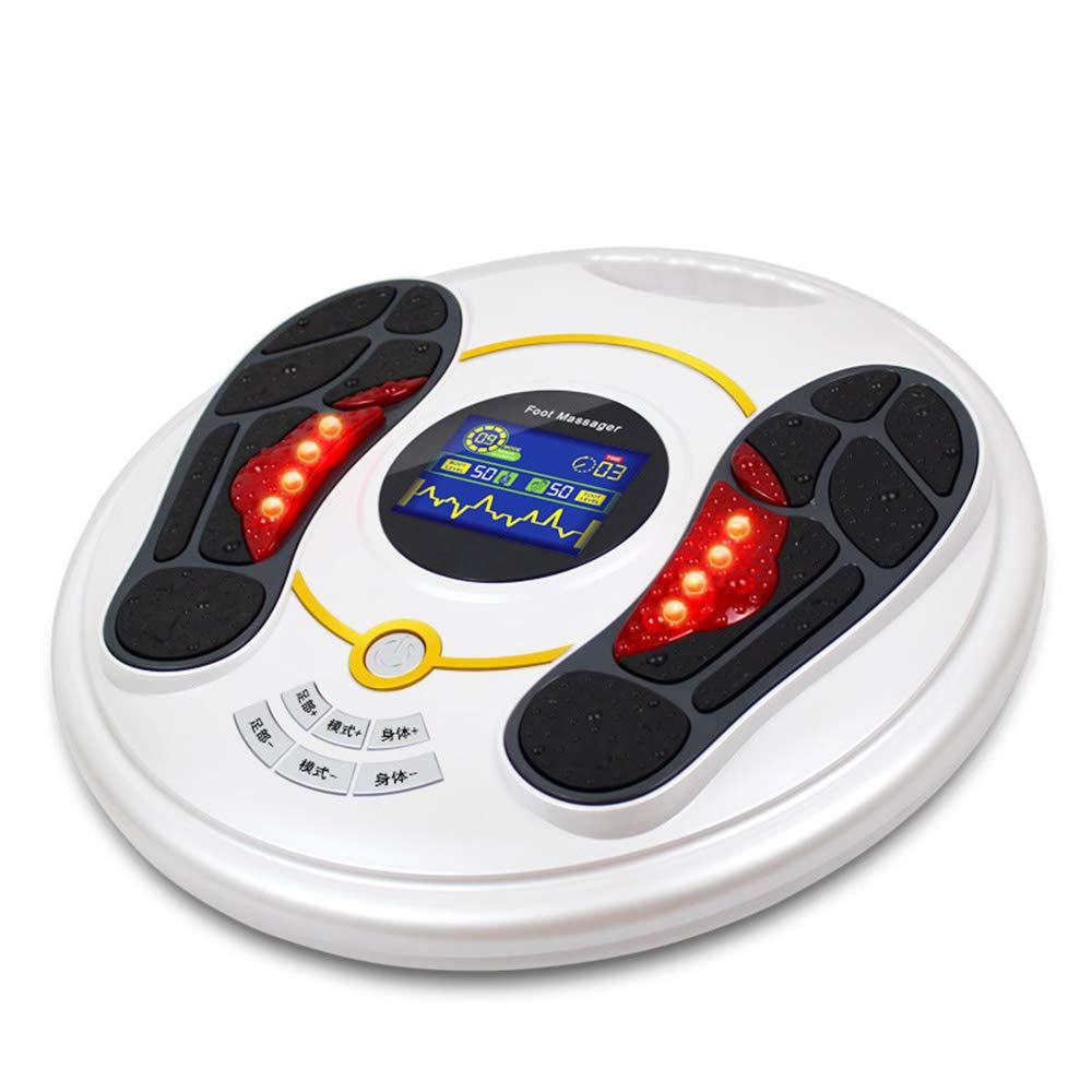 電動フットマッサージャーサイレントパルスマッサージ、99ギアポジションマッサージ力調整、切り替え可能なディープニーディングで足の痛みを軽減, White B07TXGLD9J