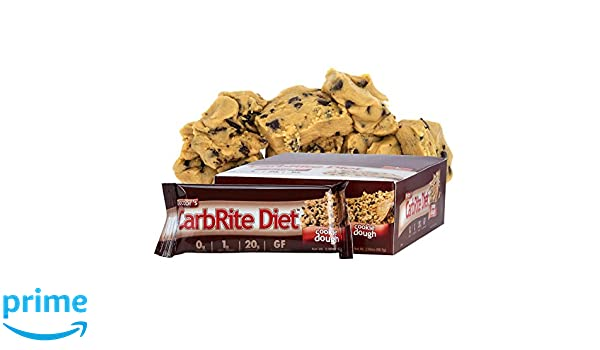Doctors CarbRite Cookie Dough, Barritas dietéticas con pasta de galletas con chocolate - 12 Unidades: Amazon.es: Salud y cuidado personal