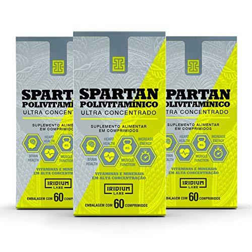 Kit 3x Spartan Polivitaminico Ultra Concentrado 60 comp