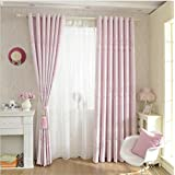GFYWZ Polyester Jacquard Blackout Curtains Noise Reducting Solid Thermal Window Drapes Bedroom Living room decor , beige , C