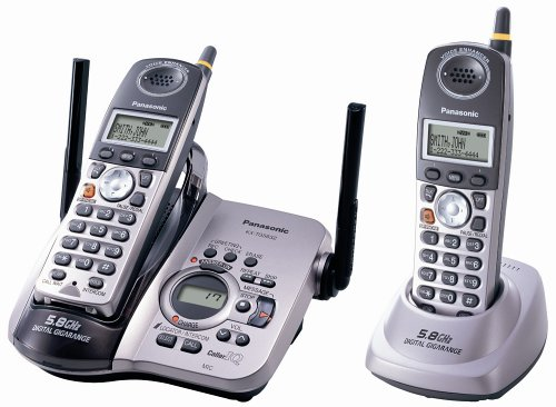 5.8 GHz FHSS GigaRange  Digital Cordless Answering System with Dual Handsets (Fhss Handset)