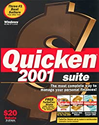 Quicken Suite 2001 (Final Tax Included for Tax Year 2000)