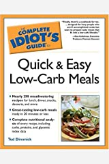 The Complete Idiot's Guide to Quick and Easy Low-Carb Meals Paperback