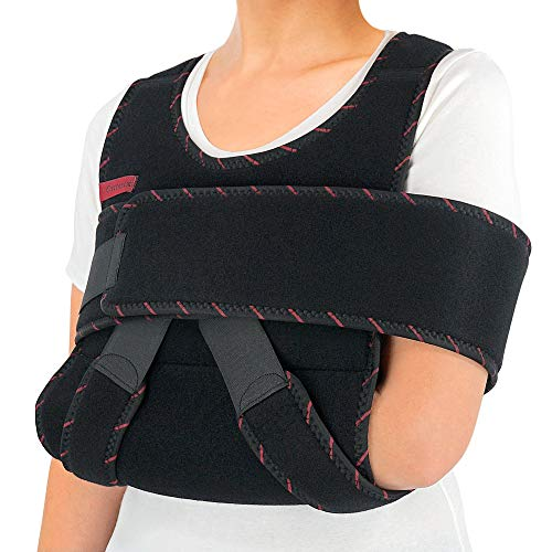 Swathe Immobilizer - ORTONYX Arm Sling Shoulder Immobilizer Brace - Adjustable Rotator Cuff and Elbow Support – for Men and Women - Fits Left and Right Hand - Extra Immobilizer Band Provides Extra Protection/Large-XXL