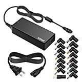 ZOZO 90W Wide Voltage 15V-20V AC Laptop Charger Power Adapter with Multi Tips for HP Dell Toshiba IBM Lenovo Acer ASUS Samsung Sony Fujitsu Gateway Notebook Ultrabook Compatible Models Supply Cords