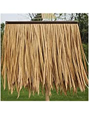Artificial Thatch,Plastic Simulation Thatch Anti-UV Flame Retardant Perishable Palm Thatch Used for Pavilion Resorts, 5 Colors (Color : D-15pcs, Size : 50x50cm)