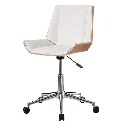 Silla Oficina con Ruedas y ergonómica, Moderna Blanca de ...
