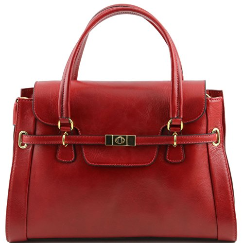 Tuscany Leather TL NeoClassic Bolso a mano en piel Rojo Bolsos con asas Rojo