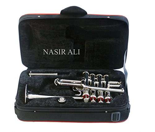 PICCOLO TRUMPET Bb PITCH NICKEL SILVER WITH CASE AND MP by Nasir ali (Image #3)