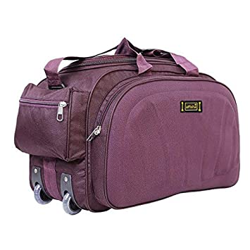alfisha Unisex Synthetic Lightweight Waterproof Luggage Travel Duffel Bag  with Roller Wheels (S Purple)  Amazon.in  Bags, Wallets   Luggage de74cedbdc