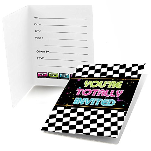 80's Retro - Fill In Totally 1980s Party Invitations (8 count)]()