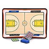 Hipiwe Basketball Coach Board Erasable Tactics Coaching Board with Zipper