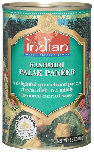 Truly Indian Kashmiri Palak Paneer, 15.8-Ounce Cans (Pack of 12)