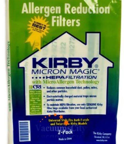 4 Kirby Santria Upright Vacuum Style F Hepa Micron Magic Bags 2 Pk Part # 205811A