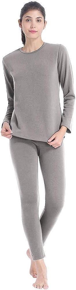 MANCYFIT Thermal Underwear for Women Fleece Lined Long Johns Set Ultra Soft Base Layer