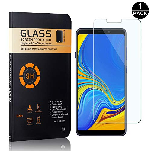 Galaxy A9 2018 Tempered Glass Screen Protector, UNEXTATI Premium HD Clear Anti Scratch Tempered Glass Film for Samsung Galaxy A9 2018 (1 Pack) ()