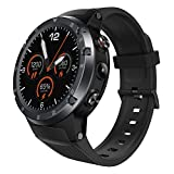 Cywulin Zeblaze Thor 4 Plus Smart Watch, Android Quad Core 1GB+16GB 1.4 inch Touchscreen, with Heart Rate Monitoring GPS/GLONASS Camera Compatible with iOS and Android Ultra-Long Battery Life (Gray)