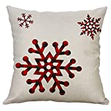 Christmas Decorations Pillow Covers Christmas Tree Snowflake Snowman Reindeer Home Decor Throw Pillow Case Cushion Cover