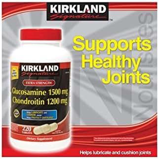 Kirkland Signature Extra Strength Glucosamine HCI 1500 mg Chondroitin Sulfate 1200 mg - 190 Tablets