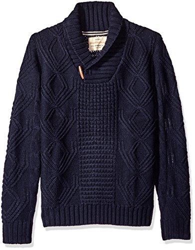 727238b20c083e Weatherproof Vintage Men's Fisherman Shawl Sweater | Dudes' Hoodies