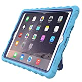 Apple iPad Air 2 Hideaway with Stand Light Blue Gumdrop Cases Silicone Rugged Shock Absorbing Protective Dual Layer Cover Case