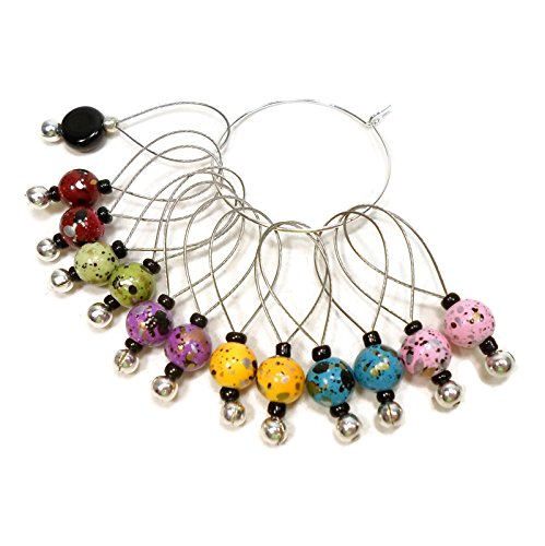 (Handmade Multi-colored Knitting Stitch Markers)