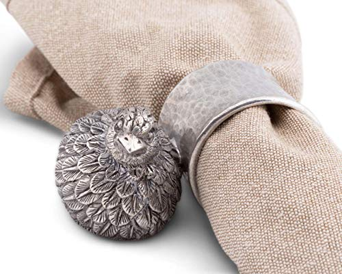 Vagabond House Pewter Metal Quail Napkin Ring 3