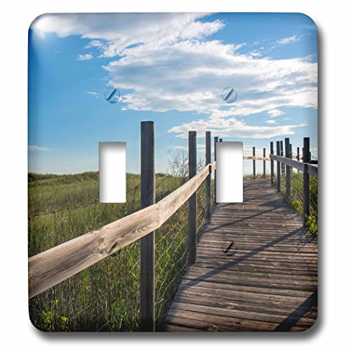 Danita Delimont - Rural - Minnesota, Duluth, Park Point, Boardwalk over Dunes - Light Switch Covers - double toggle switch - Duluth Outlet