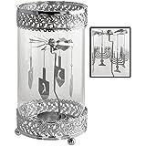 Kovot Holiday Metal Spinning Tea Light Holder (Hanukkah Theme)