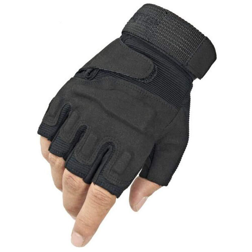 Schutzhandschuhe Half Finger Handschuhe Bergsteigen Cut-Proof Kampf Kampf Fahrt Sport Fitness Rutschfeste Black Hawk Tactical Männlich