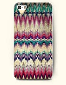 OOFIT Aztec Indian Chevron Zigzag Pattern Hard Case for Apple iPhone 4 4S ( Coloful Tribal Chevron Pattern )
