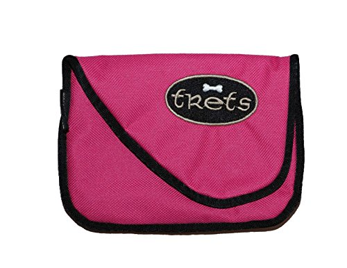 Woof Hoof Bright Pink Magnetic Dog Cat Treat Pouch Training Rewards Bag For Treats Snacks with Belt Clip For Small n Large Pets Professional Quality