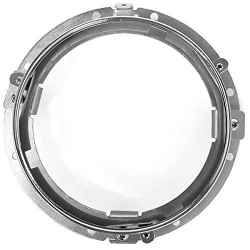 Krator Chrome 7 LED Headlight Mounting Ring Trim Bracket for Harley Davidson Street Glide FLHX 2006-2013
