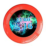 Kim Lennon Euro 2016 Football Custom Recreation Plastic Frisbee Colors And Styles Vary Red Size One Size