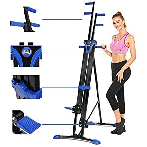 Aceshin Steel Alloy Stair Climber Machine, Home Gym Exercise Folding Climbing Machine,Vertical Climbing Exercise Machine, Fitness Stepper Gym, Whole Body Cardio Workout Training