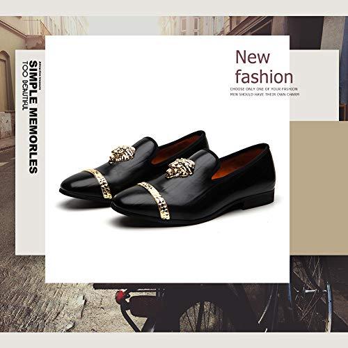MEIJIANA Loafers Men Luxury Wedding Dress Shoes Fashion Tuxedo Smoking Slipper Party Shoes