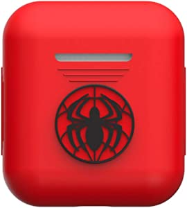 TinPlanet Marvel Avengers Series Protective Silicone Case Compatible with Apple Airpods 1 & AirPods 2 [Front LED Not Visible], Spider-Man (Red)