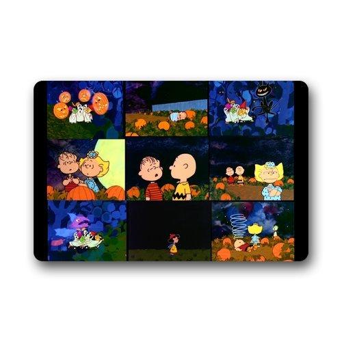 Charlie Brown Great Pumpkin Custom Indoor/Outdoor Doormat Door Mat Decor Rug Non Slip Mats 23.6