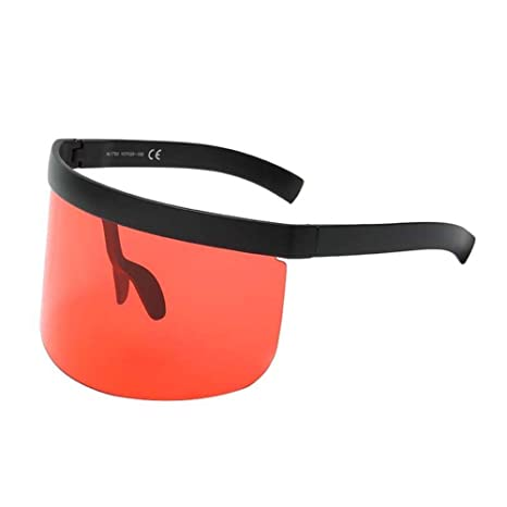 daa60be435 SUDOOK Funky Sunglasses for Men Women Extra Oversize Visor Shield Mask  Stylish Conjoined Glasses  Amazon.co.uk  Sports   Outdoors
