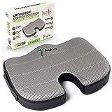 Coccyx Tailbone Memory Foam Pressure Relief Comfort Seat Cushion for Office Desk Chair, Car, Plane, Wheelchair