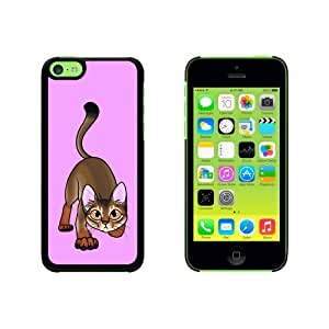 Abyssinian Cat On Pink - Pet Snap On Hard Protective For SamSung Galaxy S5 Mini Phone Case Cover - Black