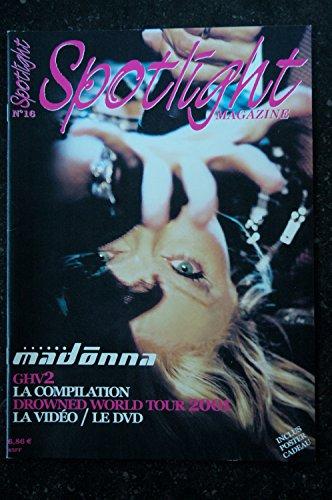 SPOTLIGHT 16 NOV 2001 MADONNA GHV2 REVUE DE PRESSE VENTE ALBUMS + POSTER