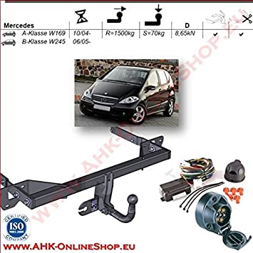 Für Mercedes-Benz W169 A-Klasse Anhängerkupplung abnehmbar+ESatz 7pol ABE