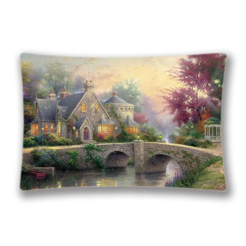 - Thomas Kinkade Pillow Cover & Pillow Cushion Fancy Design Pillow Cases with Zipper 20