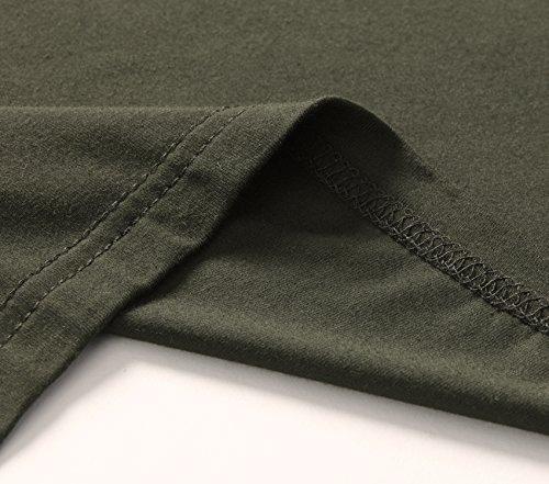 Esenchel Women's Short Sleeve Tunic Shirt Loose Fit Leggings Top