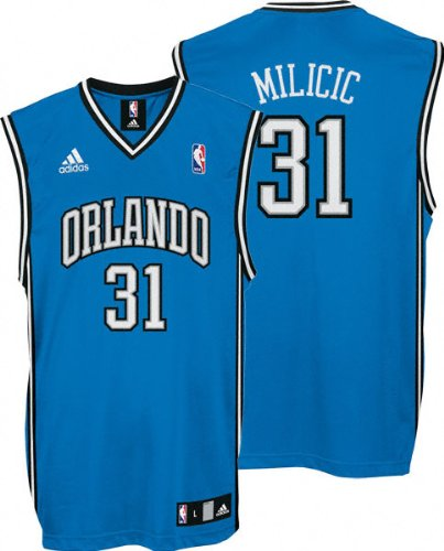 a1837e50a Darko Milicic Jersey  adidas Blue Replica  31 Orlando Magic Jersey - Large