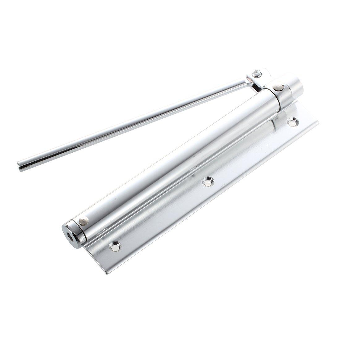 Cierrapuertas Tono plateado de aleacion de aluminio Cierrapuertas automaticos 18,03 cm largo SODIAL R
