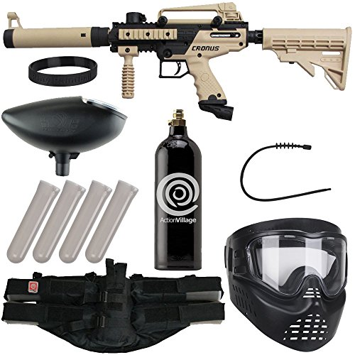 Action Village Tippmann Epic Paintball Gun Package Kit (Cronus) (Tan Tactical Edition)